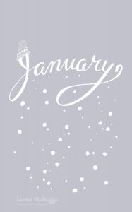 Leonie Verbrugge January wallpaper